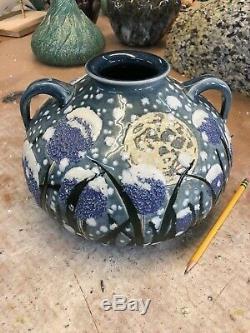 NEWARTPOTTERY Snow on Alliums TIM EBERHARDT STUDIO arts and crafts