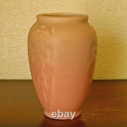 Near-Mint Vintage Rookwood Arts & Crafts Flower Vase XXX 1930 #2123 Dusty Rose