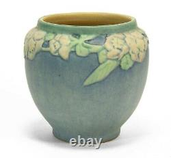 Newcomb College Pottery 1922 AFS 4.5 rose vase Arts & Crafts matte blue green