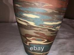 Niloak Mission Swirl Art Pottery Vase-1st Art Mark-1910-1920s-Arts and Crafts