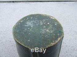 OZARK POTTERY ORGANIC MATTE GREEN GLAZE Squat Vase Arts And Crafts Era