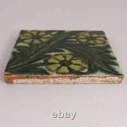 Original William De Morgan Arts and Crafts Ceramic 5 Tile