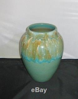 Outstanding Arts & Craft Robinson Ransbottom Large Aqua Drip Glazed Oil Jar 12