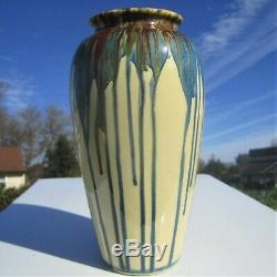 PETERS and REED SHADOW WARE POTTERY VASE 1920's ANTIQUE ARTS CRAFTS DECO VINTAGE