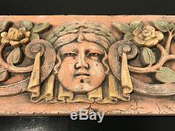 PHASES OF THE MOON FACES GARDEN PLAQUE ARTS & CRAFTS ELLISON TILE HUGE 19x6