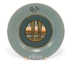 PRP Saturday Evening Girls Paul Revere Pottery landscape plate arts & crafts SEG