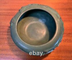 Peters & Reed PERECO Vines Pottery, Thick Green Matte Bowl, Arts & Crafts, Mission