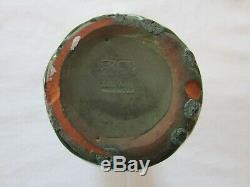 Peters & Reed Zane Ware Deep Matt Green Drip Glaze Pottery Vase -1910-Arts&Craft