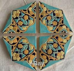 Rare Arts & Crafts Mission Octagonal Tabletop Tile Syla 1931