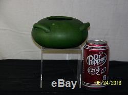 Rare-Cambridge Art Pottery Mission Arts & Crafts Mat Green Glaze Hanging Vase