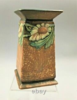 Rare Roseville Arts & Crafts Dahlrose Square Column Vase Ca1928 #419-6