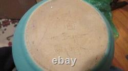 Rare Van Briggle pottery carafe w 7 cups 1930 copper handles Mission Arts Crafts