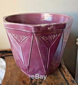 Rare Vintage Brush-McCoy Arts & Crafts Jardiniere Moderne KolorKraft 8 1/2'