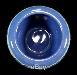 Rare Vintage California Faience Cuenca Arts Crafts Pottery Vase Bowl Eureka Inn
