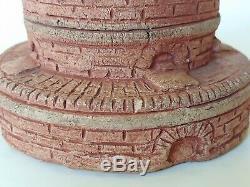 Rare Wheatley Pottery Beehive Kiln Shape Vase Grueby Arts And Crafts Era