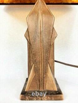 Rare c. 1920 Cowan Pottery Lamp Mica Shade Art Crafts Stickley Prairie School