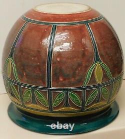 Richard Meyer, noted San Diego artist, vase/planter 11h, 12w arts and crafts