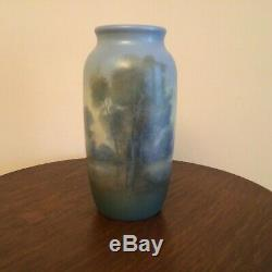 Rookwood 1921 Scenic Vellum Arts & Crafts Pottery Vase Ed Diers