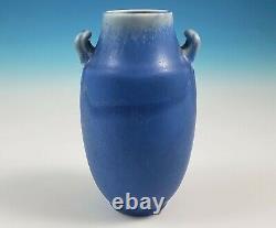 Rookwood Art Pottery 1923 Arts & Crafts Style Handled Vase 77C Blue Drip Glaze