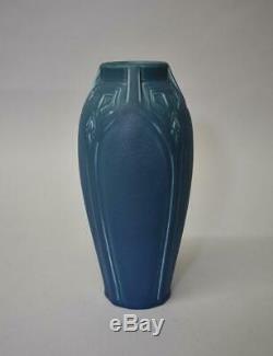 Rookwood Arts And Crafts Blue Glaze Vase #2416 Circa 1917