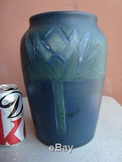 Rookwood Arts & Crafts Blue 10.5 Lotus Factory Lamp Base 1905 Sally Toohey
