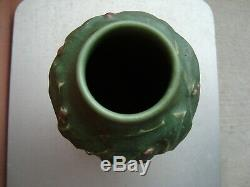 Rookwood Arts & Crafts Hand Modeled Matte Green 12 Holly Vase 1905 Sally Toohey