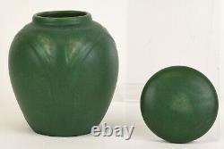 Rookwood Arts & Crafts Matte Green Lidded Jar Cecil Duell 1907