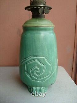 Rookwood Arts & Crafts Z-Line 15 Incised Factory Oil Lamp 1901 Wm P McDonald
