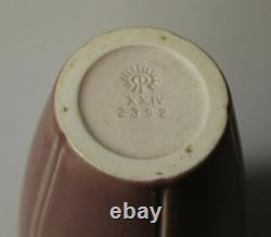 Rookwood Arts and Crafts Pottery Mauve Tall Vase Dated 1924