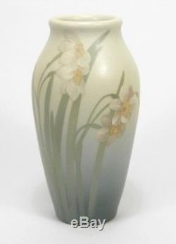Rookwood Pottery 1904 Z series matte vellum white narcissus green arts & crafts