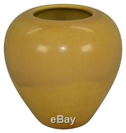 Rookwood Pottery 1921 Arts And Crafts Mottled Yellow Vase 1120