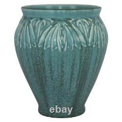 Rookwood Pottery 1928 Mottled Green Floral Arts And Crafts Vase 2208
