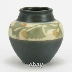 Rookwood Pottery 4 1/8 LNL matte vellum gray green ginko berry arts & crafts