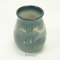 Rookwood Pottery 4.5 S. E. Coyne scenic matte vellum blue green arts & crafts