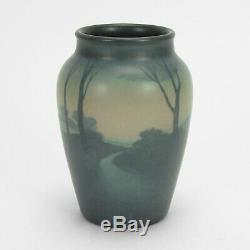 Rookwood Pottery 6 E Wildman river scenic matte vellum blue green arts & crafts
