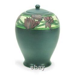 Rookwood Pottery 7 3/4 SEC matte vellum gray floral cov'd jar arts & crafts