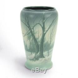 Rookwood Pottery 8 5/8 ED winter snow landscape scenic vellum arts & crafts