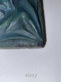 Rookwood Pottery Architectural Faience Tile Arts & Crafts matte green thistles
