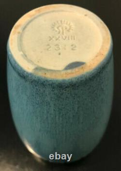 Rookwood Pottery Arts & Crafts Matte Blue Vase 6.5
