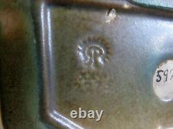 Rookwood Pottery Arts & Crafts Matte Green Rook Bookends 5924