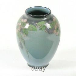 Rookwood Pottery Eliz. McDermott floral jewel porcelain vase arts & crafts 1919