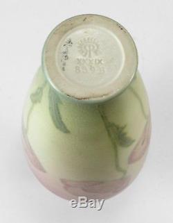 Rookwood Pottery Shirayamadani 9 wax matte poppy design vase 1939 Arts & Crafts