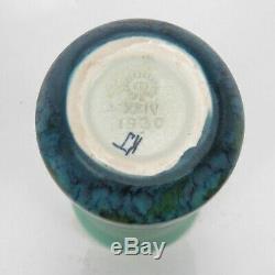 Rookwood Pottery blue green wax matte floral vase 1924 Arts & Crafts K Jones