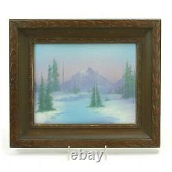 Rookwood Pottery plaque Rocky Mountain river trees matte vellum arts & crafts