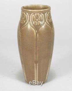 Rookwood Pottery production 1925 floral vase tan brown arts & crafts