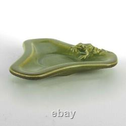 Rookwood Pottery production frog dish 1926 arts & crafts matte green KS