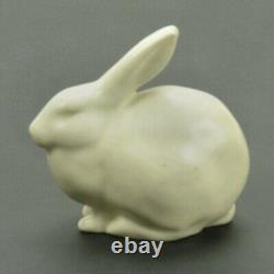 Rookwood Pottery production white rabbit paperweight arts & crafts 1937