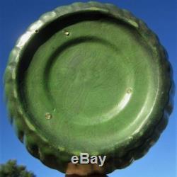 Roseville Arts Crafts Design Antique Matt Green Pottery Hanging Basket Bowl Vase
