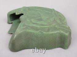 Roseville Arts & Crafts Pottery Wall Pocket Unusual Matt Green Witch Pagan Nude
