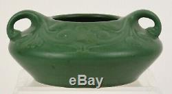 Roseville Chloron Squat Vase Matt Green Arts And Crafts With Chloron Ink Stamp